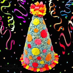 How to make a Rice Krispies Treat Party Hat